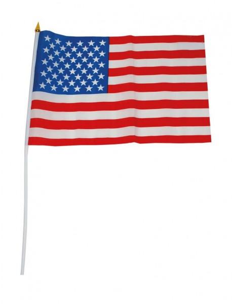 USA Fahne ca. 30x45cm mit Stab aus Kunststoff ca. 60cm