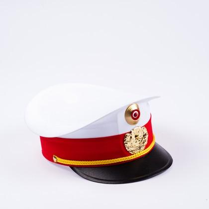 Polizeimütze weiss/rot für Kinder