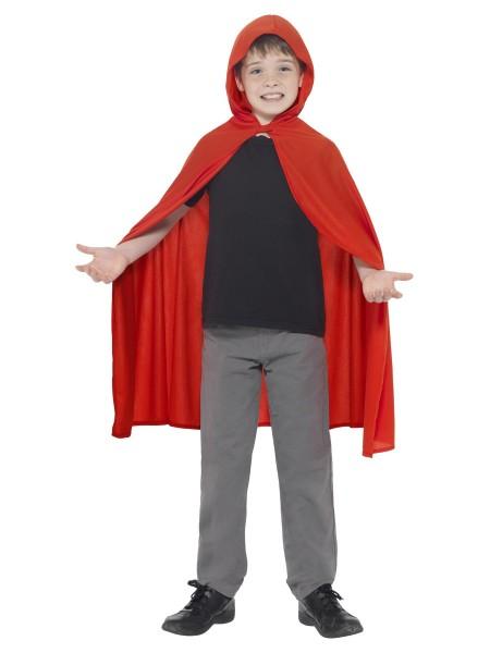 Roter Umhang mit Kapuze für Kinder M/L
