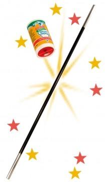 Zaubertrick mit Zauberstab und Zaubersalz