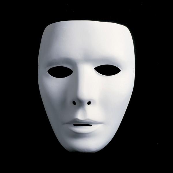 Weisse Maske - ganzes Gesicht