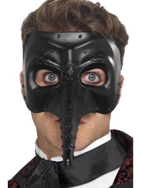 Venezianische Schnabel Maske schwarz
