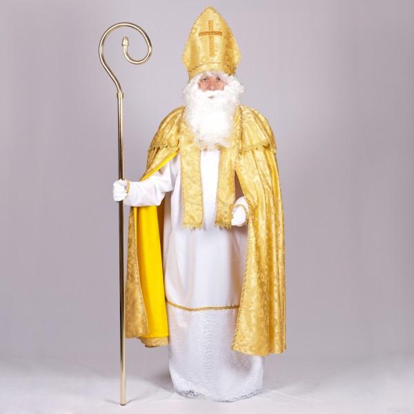 Nikolo Kostüm delux 4tlg. Brokat gold