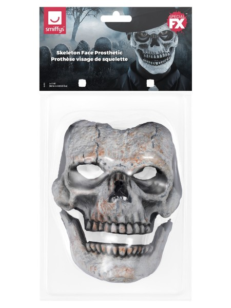 Totenkopf Gesicht 2teilige Latex Applikation