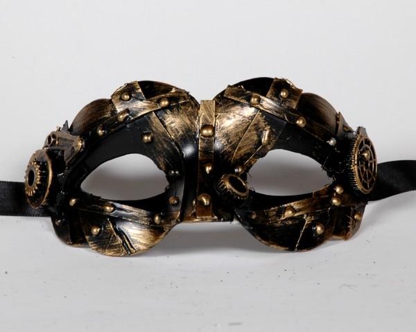 Veneziansiche Steampunk Maske gold klein