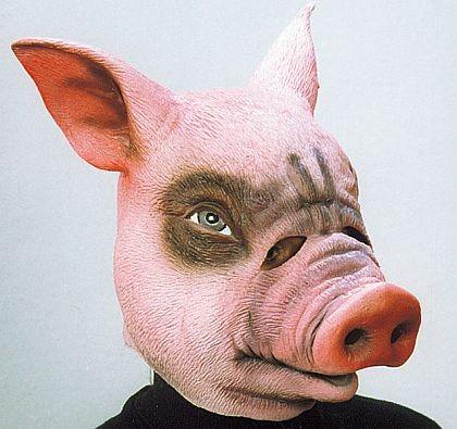 Gummimaske Schwein