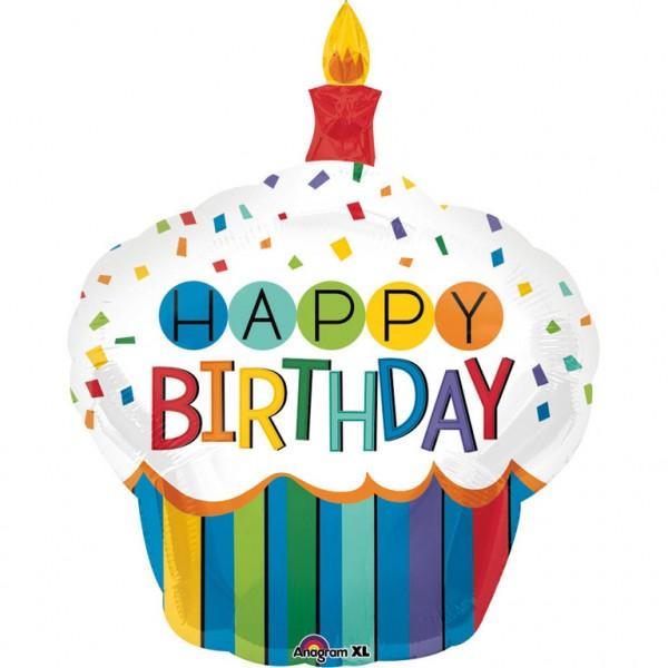 Happy Birthday Cupcake Luftballon