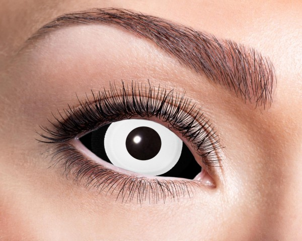 Kontaktlinsen Sclera weiß/schwarz