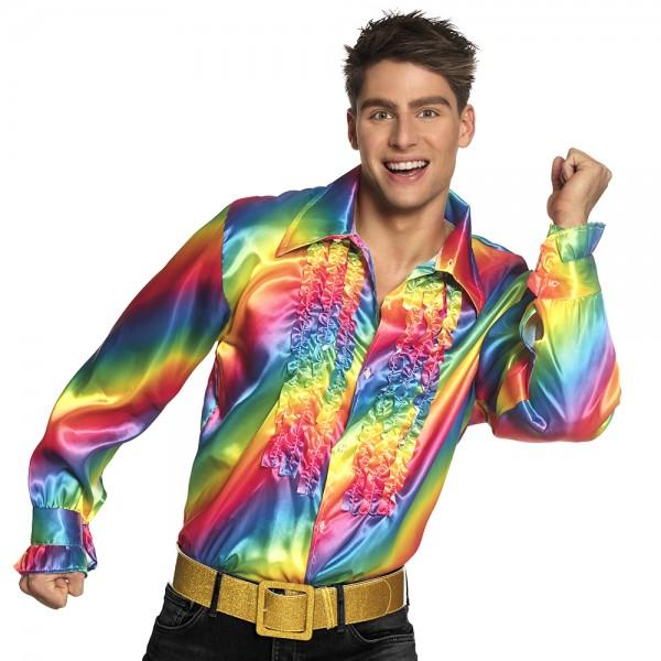 Regenbogen Party Shirt MEDIUM