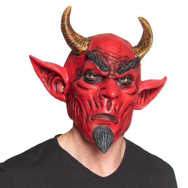 Krampus Maske aus Latex Teufel
