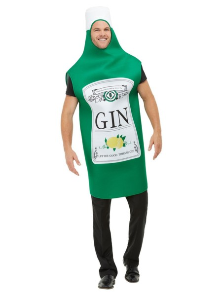 Kostüm Gin Flasche