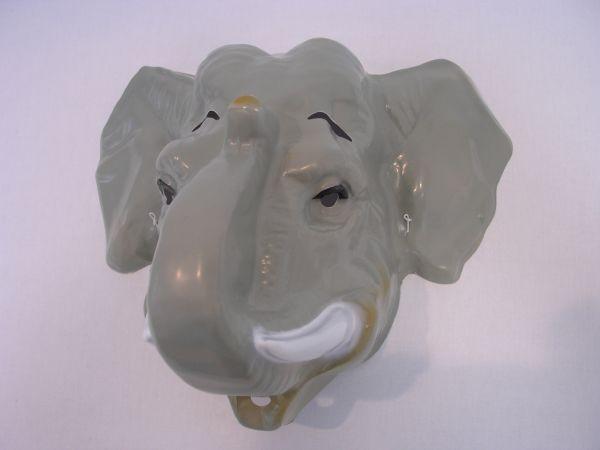 ELEFANT Maske Plastik für Erwachsene