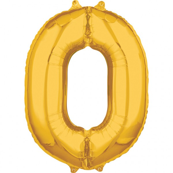 "Zahlen Luftballon ""0"" gold ca. 66x50cm"