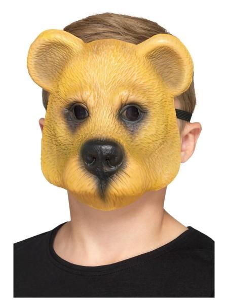 Bären Halbmaske für Kinder