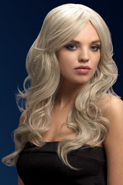 Nicole silber-blonde Perücke Premium Qualität
