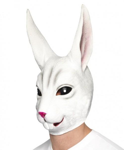 Hasen Maske weiß