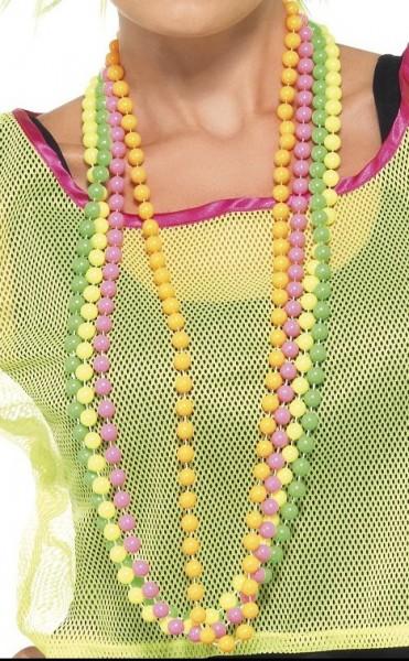 Neon Perlketten in bunten Farben