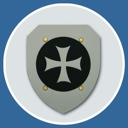 Ritter Schild grau aus Moosgummi