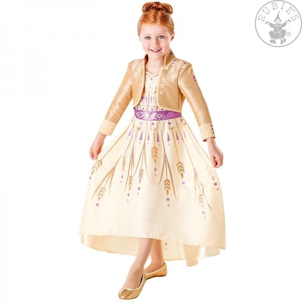 Anna Frozen 2 Prologue Kleid LARGE für Kinder gold
