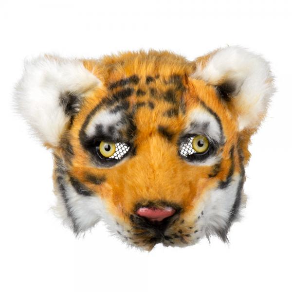 TIGER Maske Plüsch Halbmaske