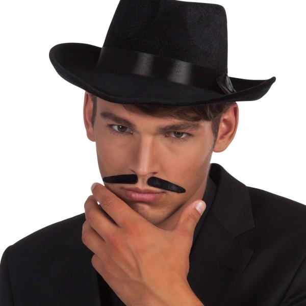 Gangster Schnurrbart schwarz