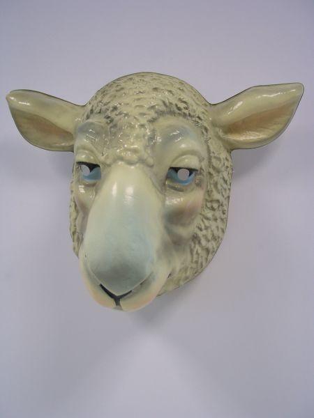 SCHAF Maske Plastik füer Erwachsene