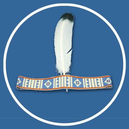 """Indianer Stirnband """"Weisse Feder"""""""