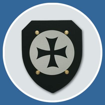 Ritter Schild schwarz aus Moosgummi