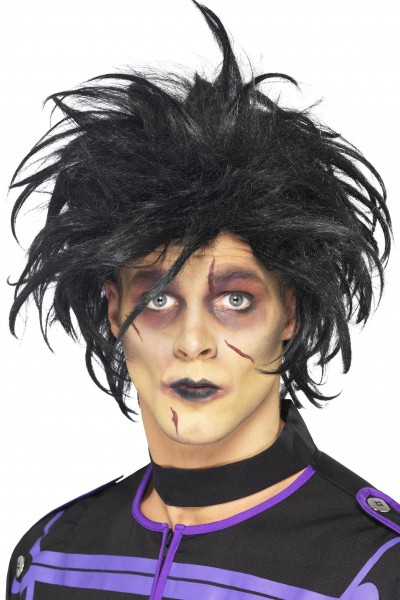 Halloween Perücke Psycho schwarz