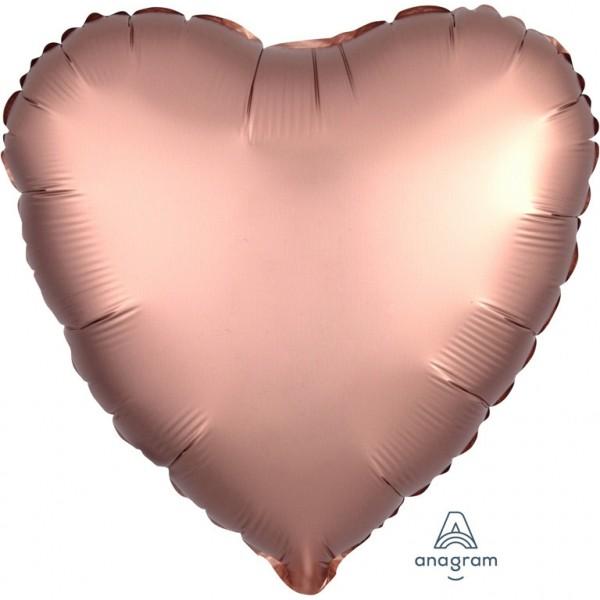 Luftballon Herz satin-rose Farbe