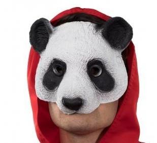 Panda Bär Halbmaske