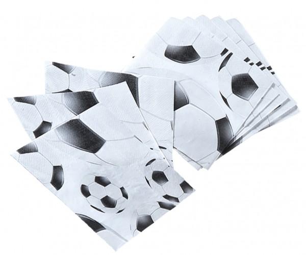 Fußball Servietten 20 Stück Packung