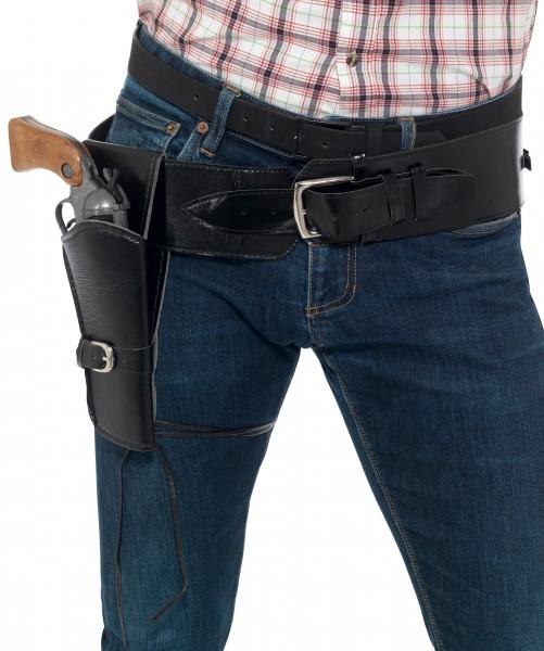 Western Patronen Gürtel Leder 1 Tasche