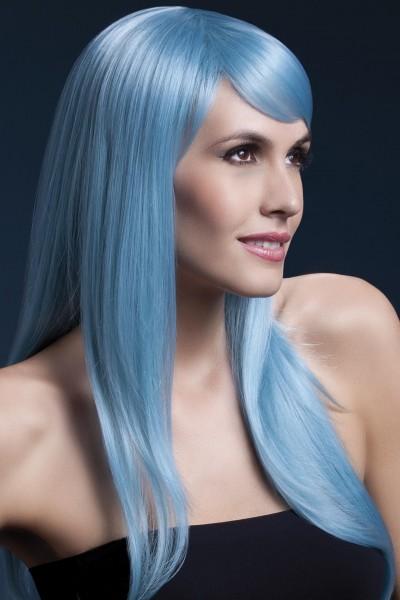 Sienna Perücke pastel-blau Premium Qualität