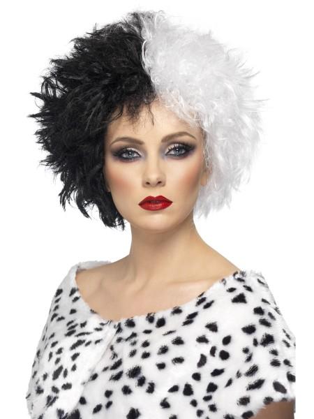 Evil Madam Perücke schwarz-weiß