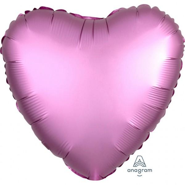 Folienballon in Herz Form rosa-lila Farbton