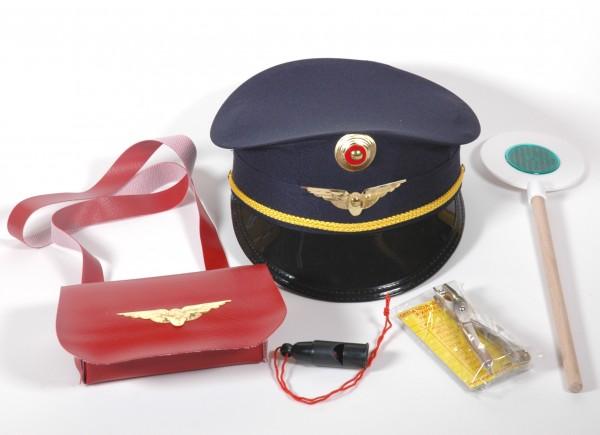 Schaffner Set 6teilig mit blauer Mütze