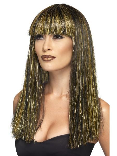 Ägypterin Perücke Kleopatra schwarz gold