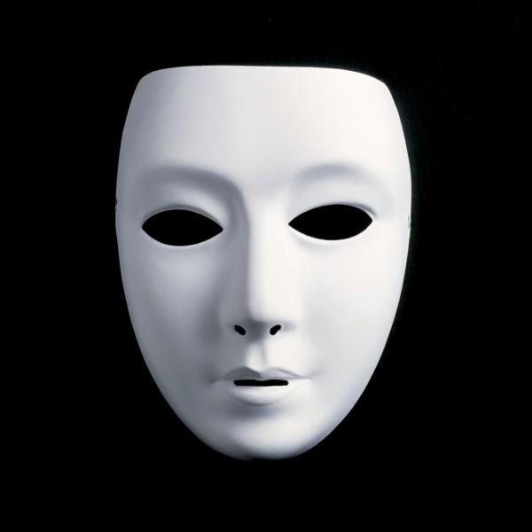 Weiße Maske klein - ganzes Gesicht
