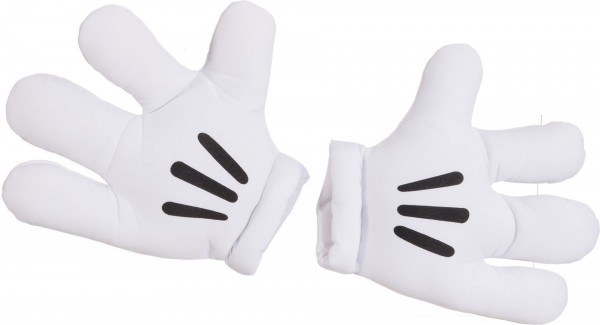 Jumbo Comic Handschuhe weiß