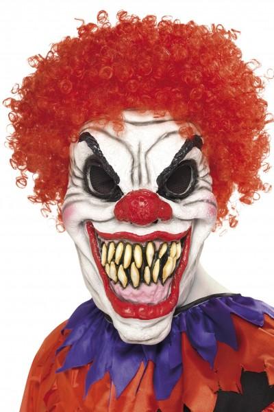 Scary Clown Maske aus foam-latex Material mit Haar