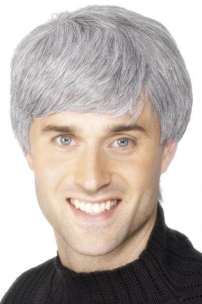 Herren Perücke mit kurzen grauen Haaren