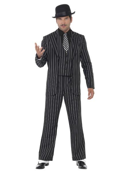 Gangster Boss Nadelstreiff Anzug Größe LARGE