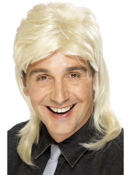 Herren Perücke blond 80er Jahre Style