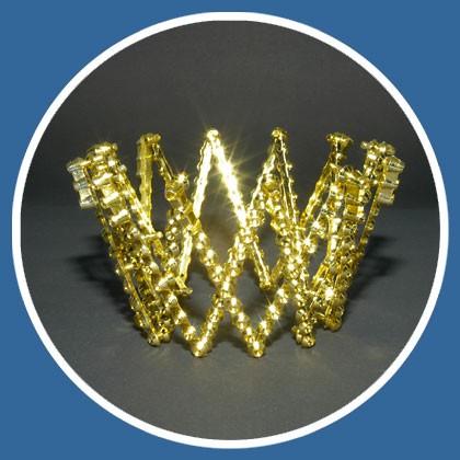 goldene Krone aus Kunststoff mit verstellbarer Größe
