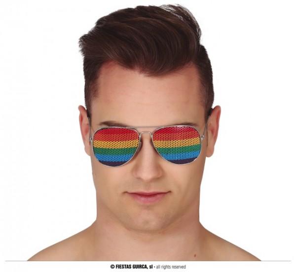 Brille mit Regenbogen Aufdruck