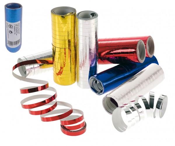 4er Packung Metallic Luftschlangen sortierte Farben