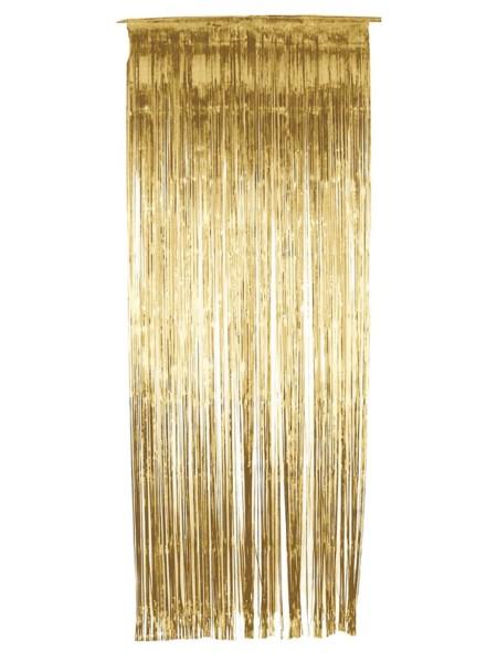 Gold Glitzer Vorhang 244x91cm