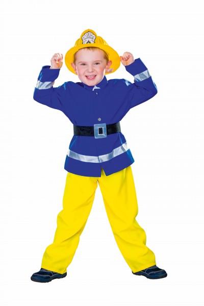 Feuerwehrmann blau/gelb Größe 104