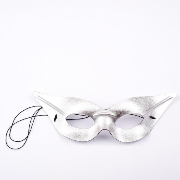 Augenmaske Spitz silber